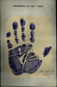 Albert Bowie hand