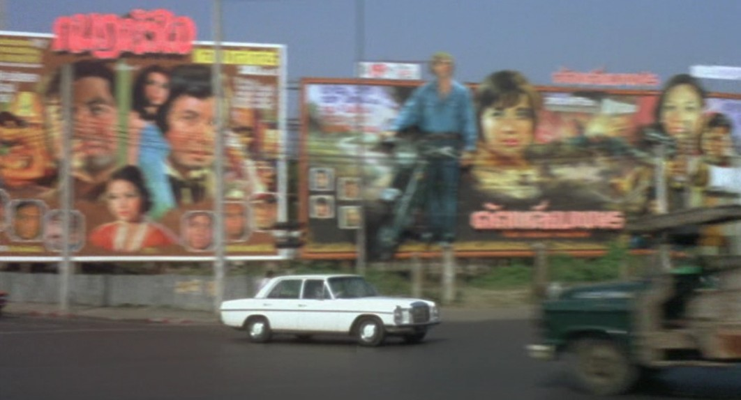 There They Go-Go-Go! movie scenes There is then a great scene of Emanuelle riding a taxi to her hotel and various Bangkok landmarks are shown Wat Saket the Democracy Monument etc