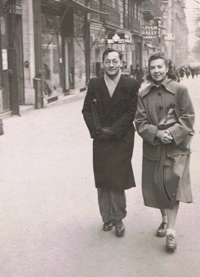 2 Truong Buu Khanh-Papa et Yvette Horel-Maman Paris 1948